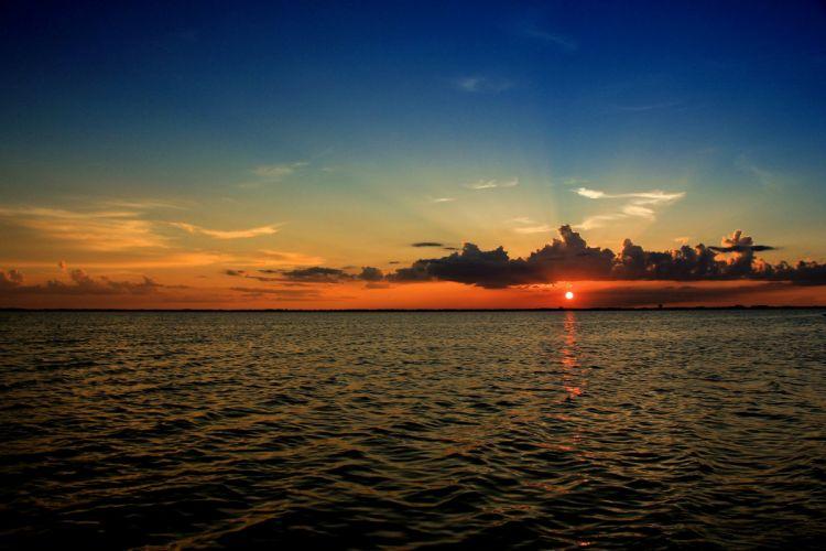 sunset DAocean sea clouds Brevard Florida wallpaper