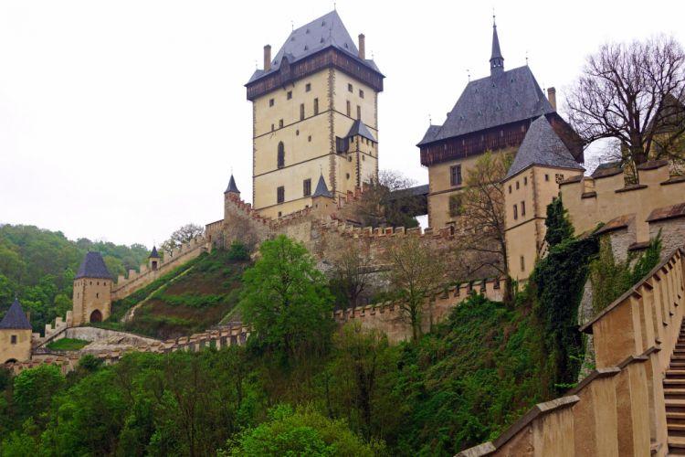Czech Republic Castle Landscape Cities wallpaper