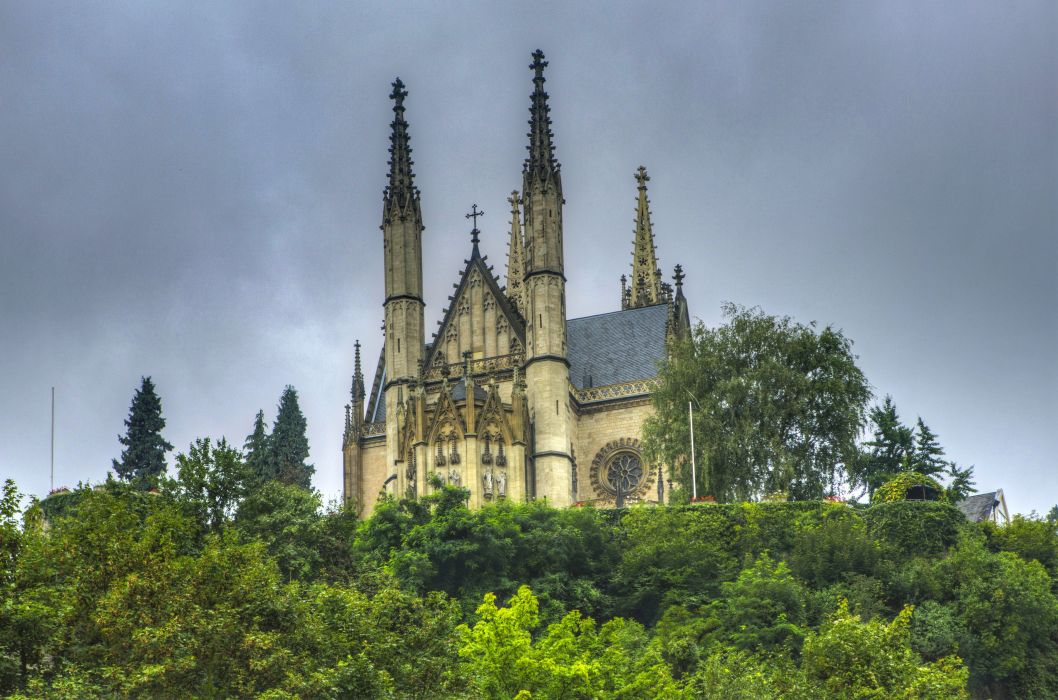 Germany Temples Apollinaris Kirche Remagen Cities church cathedral religion wallpaper