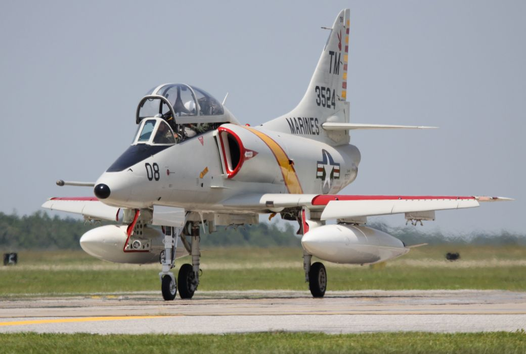 McDonnell Dougall TA-4J Skyhawk airplane bomber Fighter jet Military aicrafts usa marine wallpaper