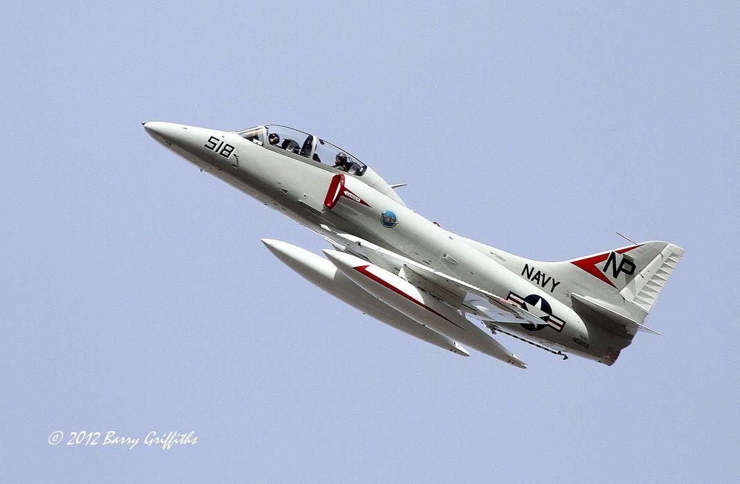 McDonnell Dougall TA-4J Skyhawk airplane bomber Fighter jet Military aicrafts usa marine wallpaper