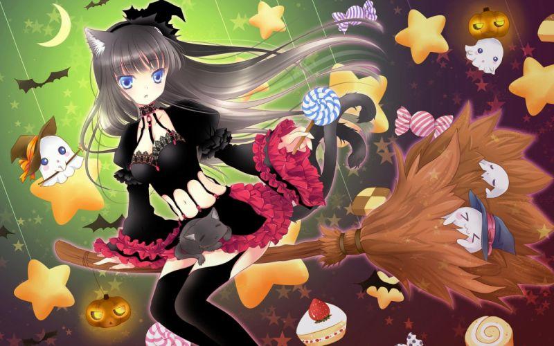 anime girl beautiful beauty girls colors happy lovely wallpaper