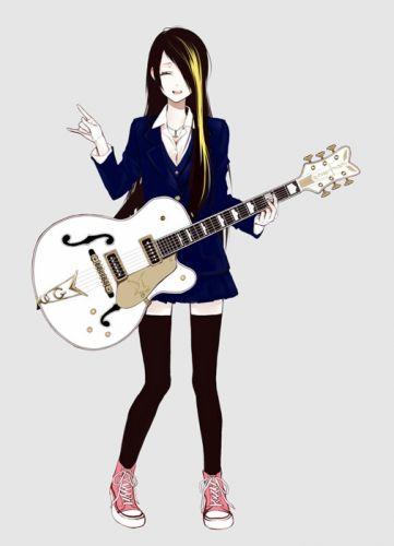 music guitar brown blond hair cool socks girl wallpaper