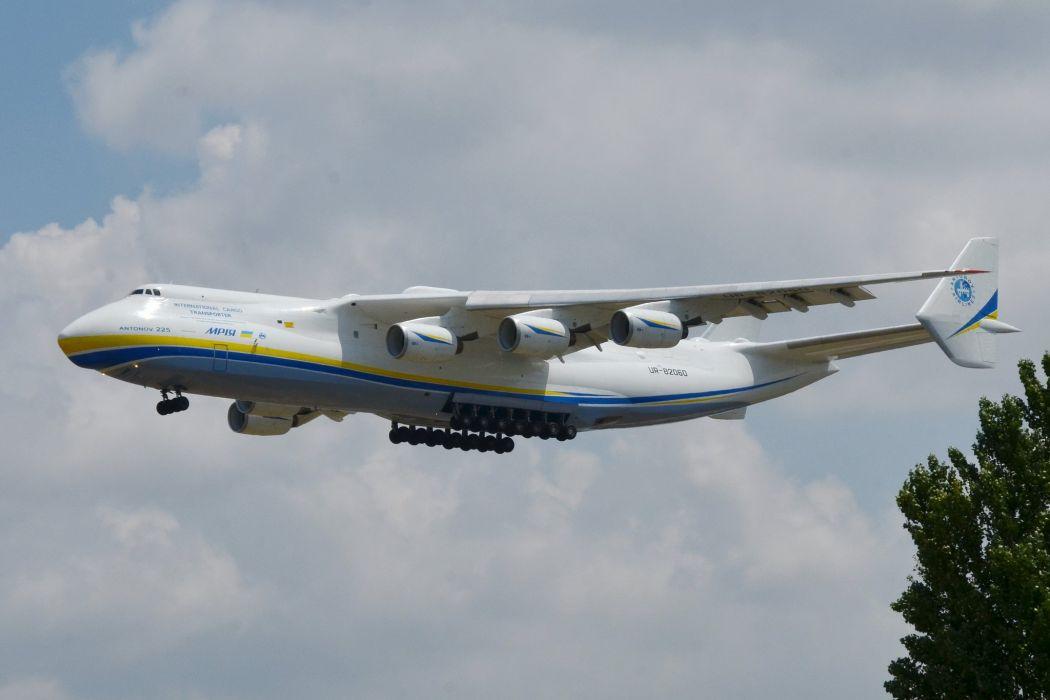 ANTONOV AN-225 aircrafts cargo transport russia airplane wallpaper