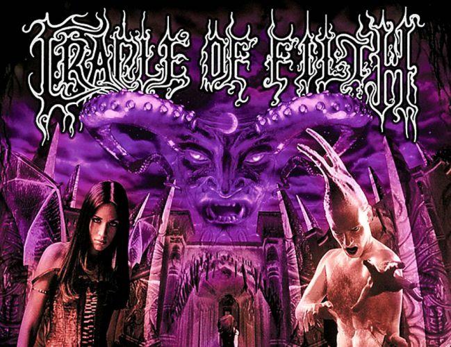 CRADLE OF FILTH gothic metal heavy extreme symphonic black dark wallpaper