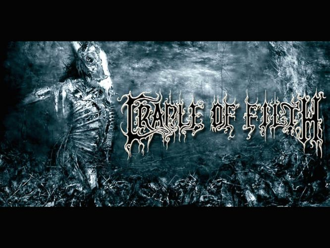 CRADLE OF FILTH gothic metal heavy extreme symphonic black dark skull evil wallpaper