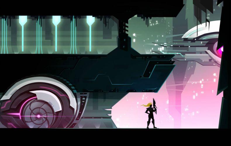 VELOCITY-2X shooter action sci-fi platform velocity wallpaper