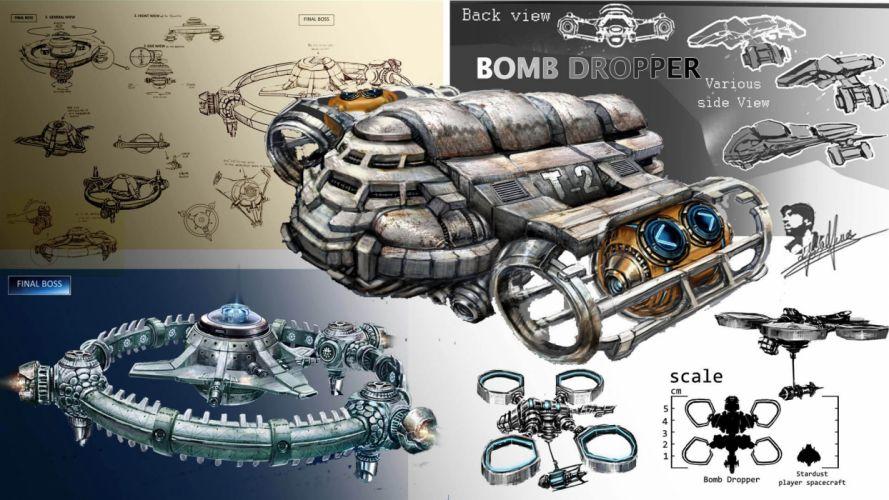 SUPER STARDUST shooter sci-fi action futuristic spaceship wallpaper
