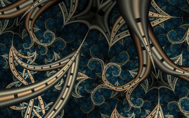 abstract lines blue art wallpaper