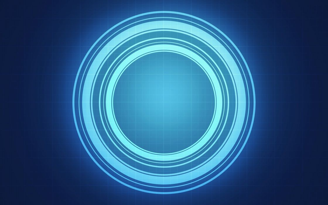 abstract blue circle light wallpaper