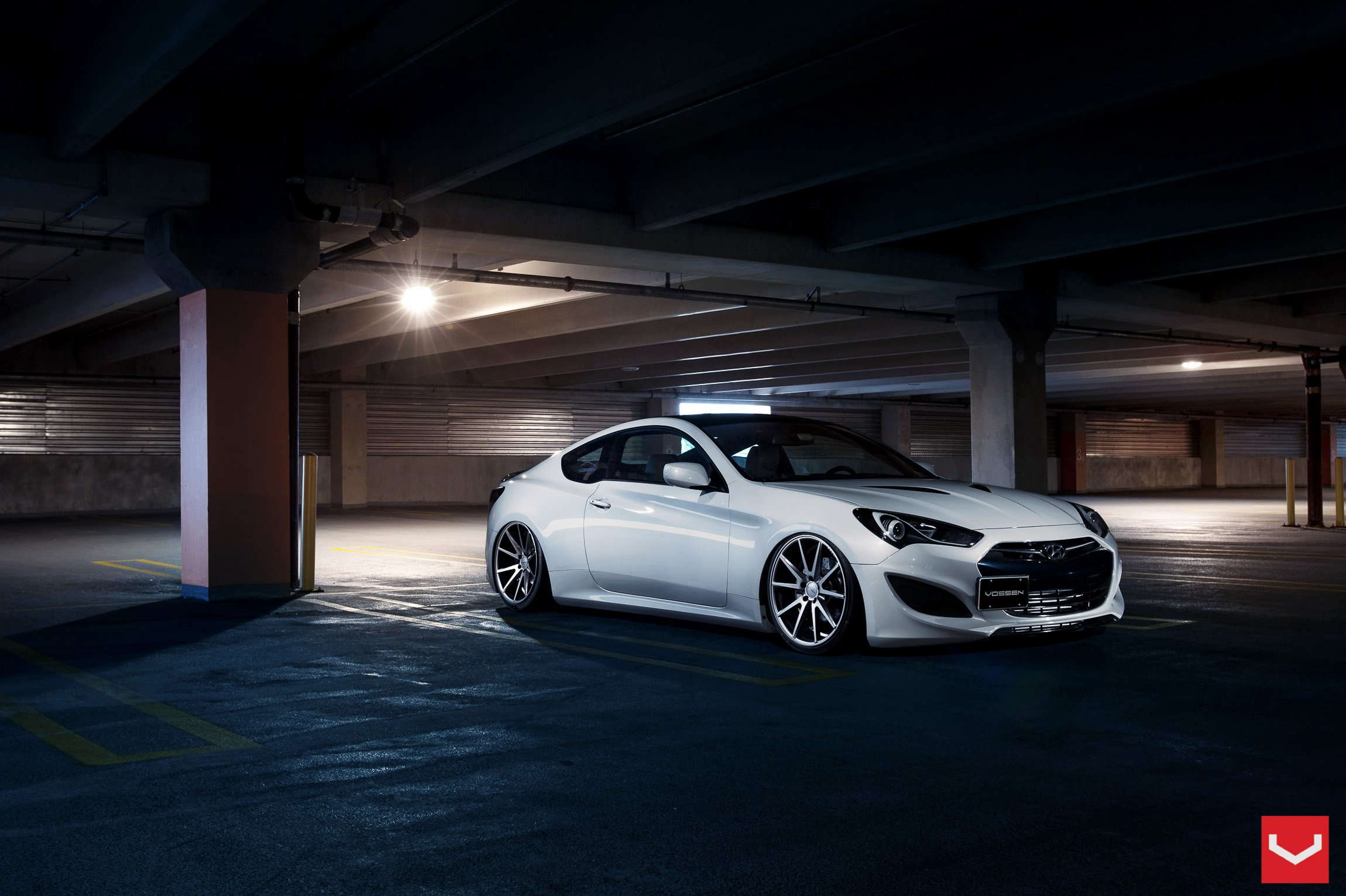 Vossen Wheels Hyundai Genesis Coupe Tuning Wallpaper