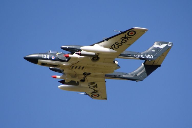 1959 De-Havilland Sea-Vixen aircrafts Fighter england jet Royal Navy marine wallpaper