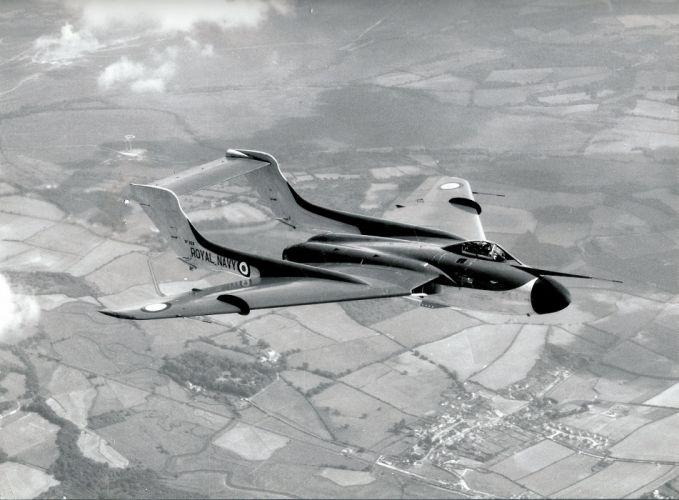 1959 De-Havilland Sea-Vixen aircrafts Fighter england jet Royal Navy marine wallpaper