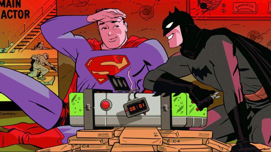 Classic Superman and Batman wallpaper