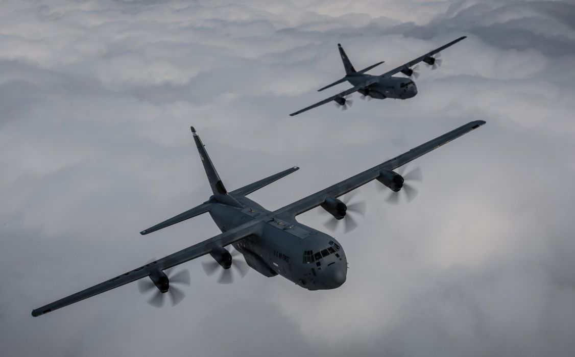 1999 Lockheed C-130J Super Hercules aircrafts transport Military us-air-force wallpaper