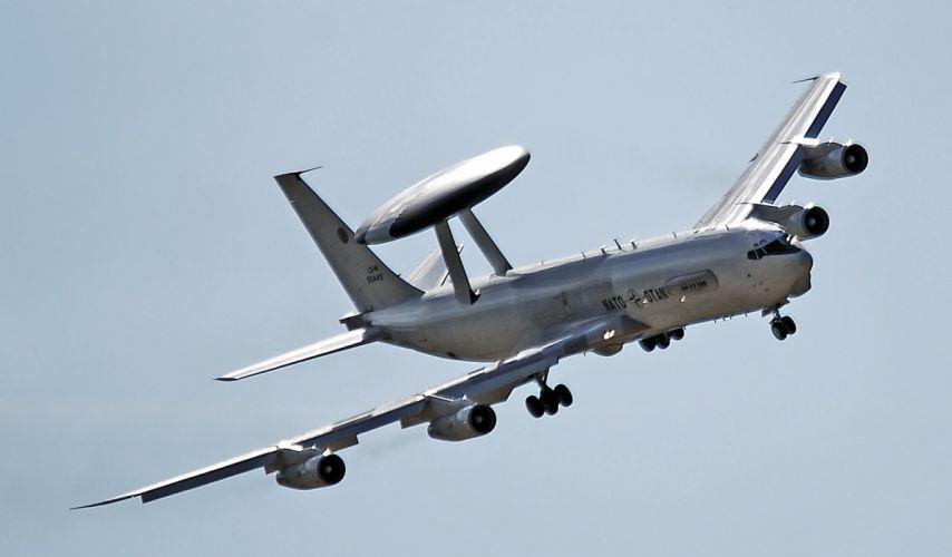 1977 Boeing E-3 Sentry aircrafts AWACS radar Military us-air-force wallpaper