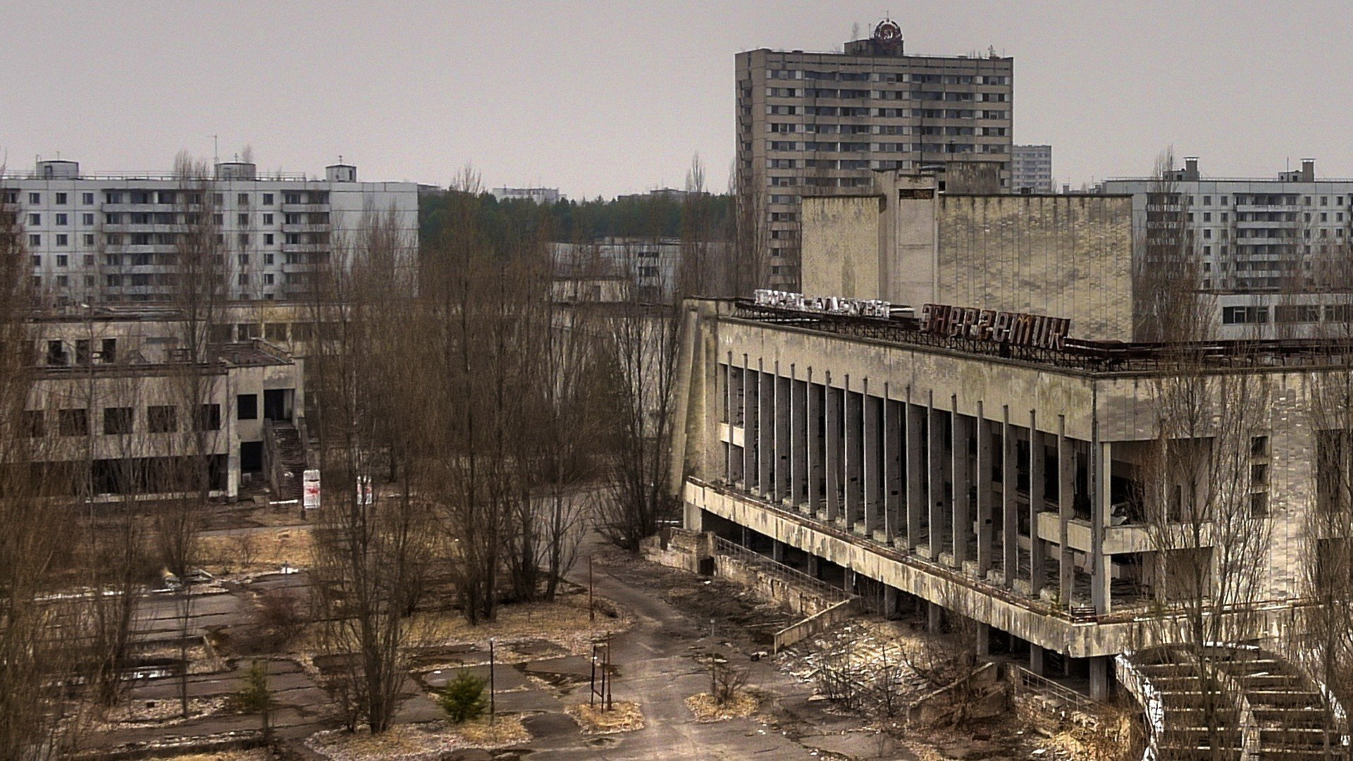 pripyat the ghost town ukraine chernobyl wallpaper   1920x1080