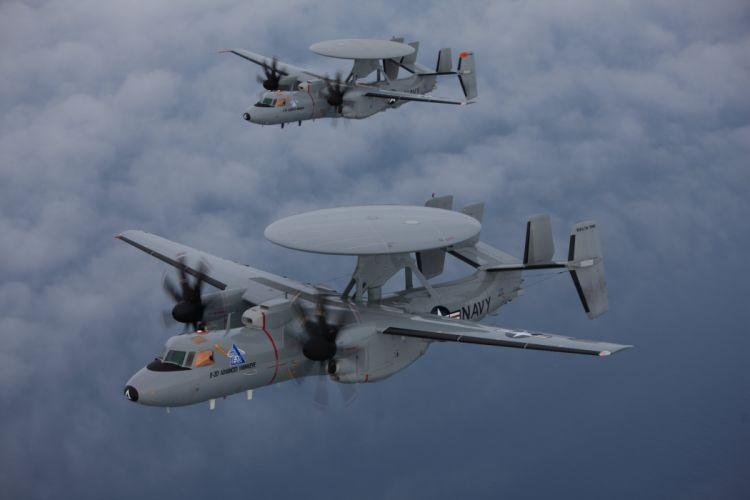 1964 Grumman E-2 Hawkeye aircrafts radar Military us-air-force marine navy wallpaper