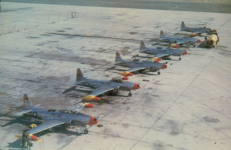 1945 lockheed P-80 Shooting Star aircrafts fighter jet Military us-air-force wallpaper