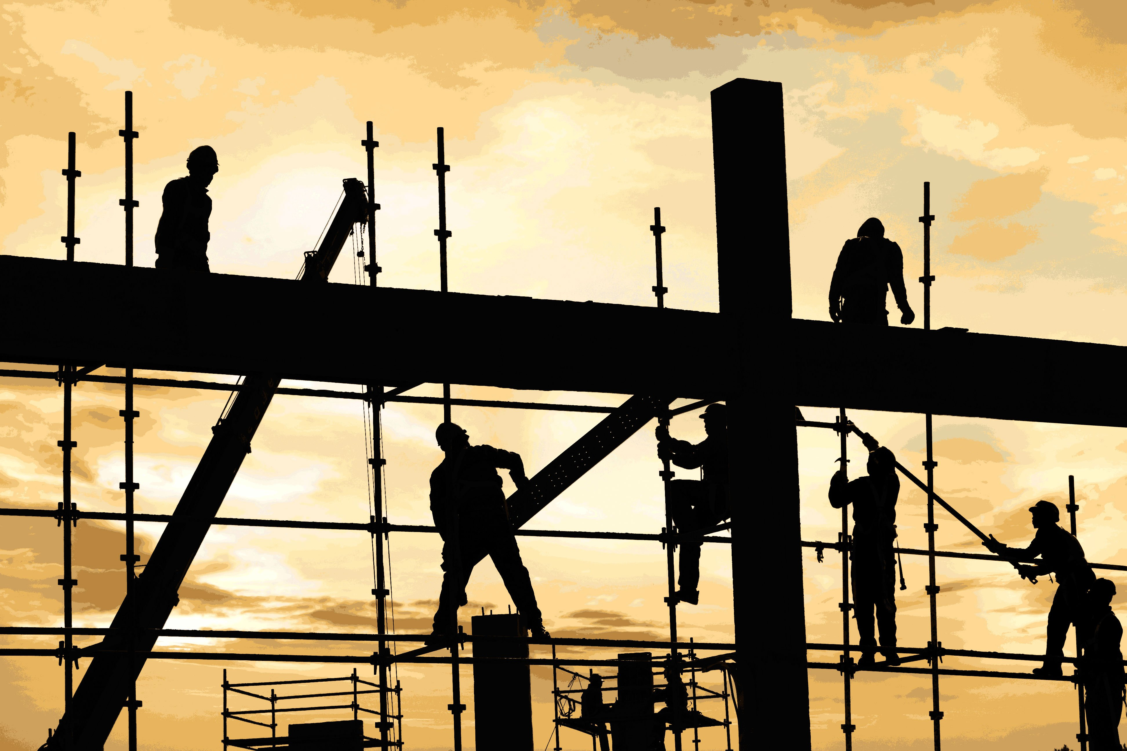 Construction Building Background Construction Work Building