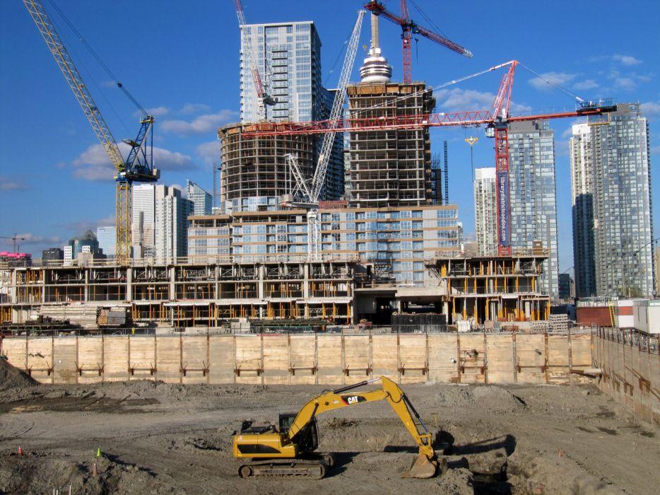 construction work building job profession architecture design crane wallpaper