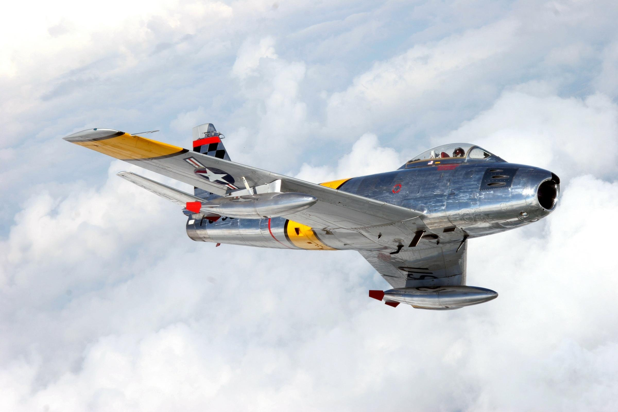 F 86 Sabre Fighter Aircraft Wallpaper For Desktop and Mobile