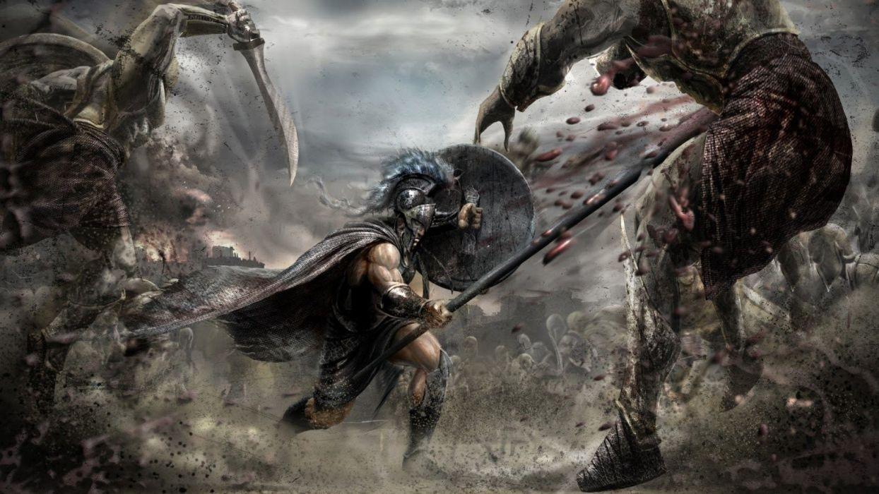 SPARTAN - fantasy art battles wallpaper