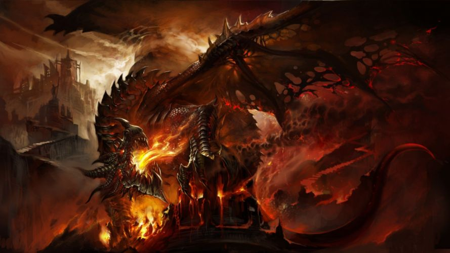 WARCRAFT - cataclysm death wing game wallpaper