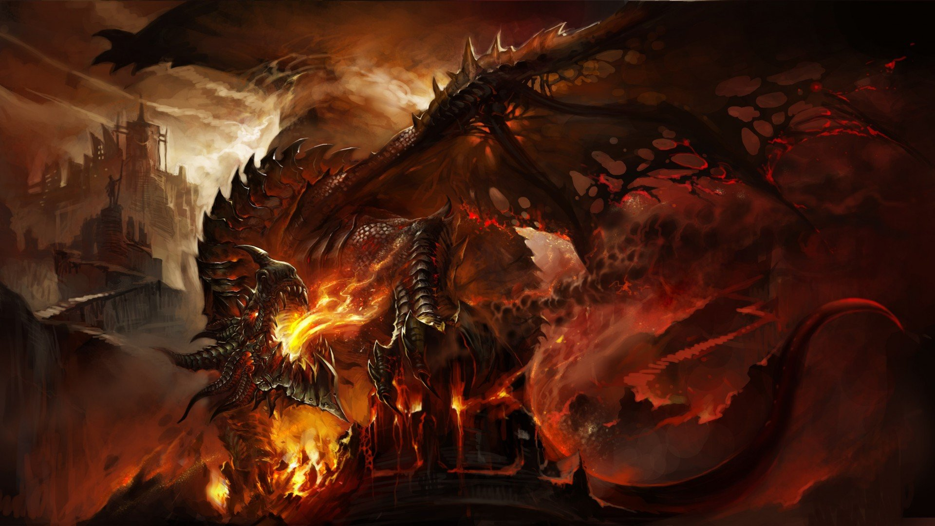 WARCRAFT - cataclysm death wing game wallpaper | 1920x1080 ...