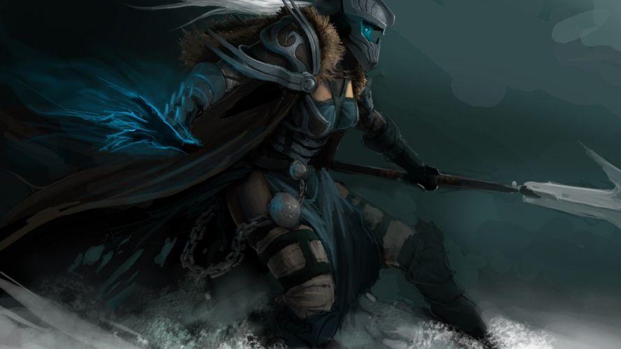 WARCRAFT - fantasy art armor game woman 1920x1080 wallpaper