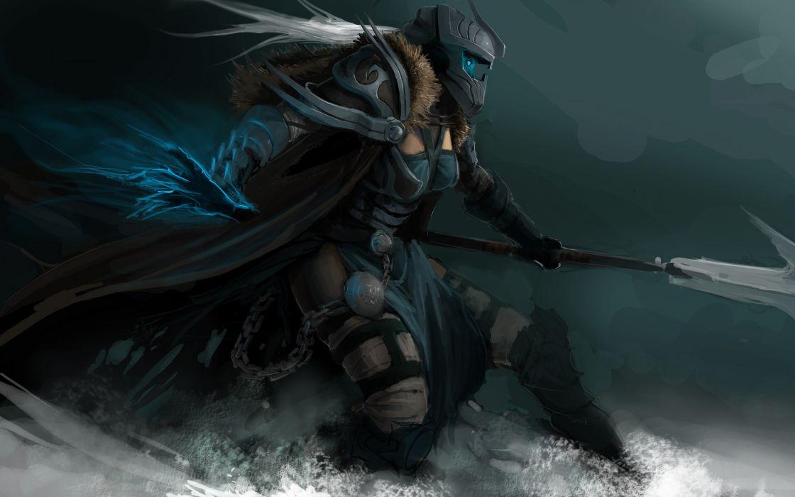 WARCRAFT - fantasy art armor game woman 5280x3300 wallpaper