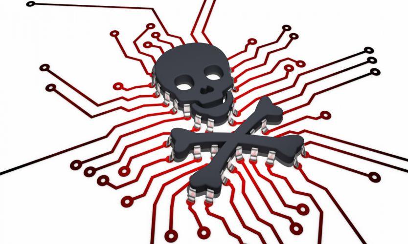 anarchy computer cyber hacker hacking virus dark sadic internet skull wallpaper