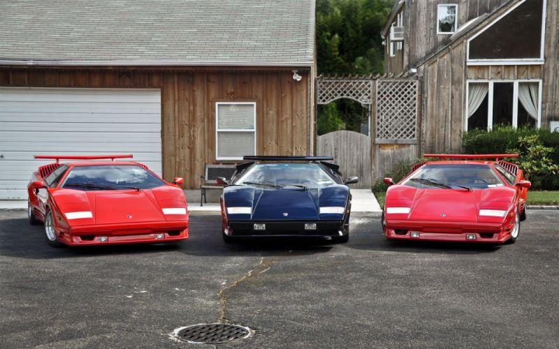 Lamborghini Countach Trio wallpaper
