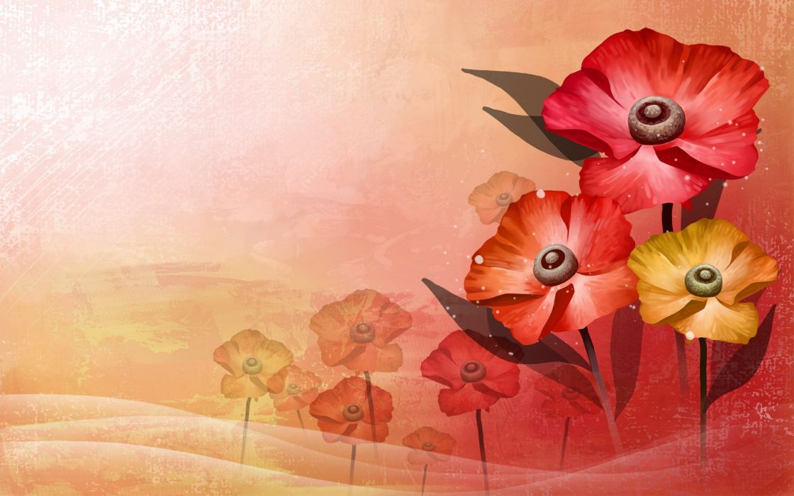flowers art vector abstract colors lovely wallpaper