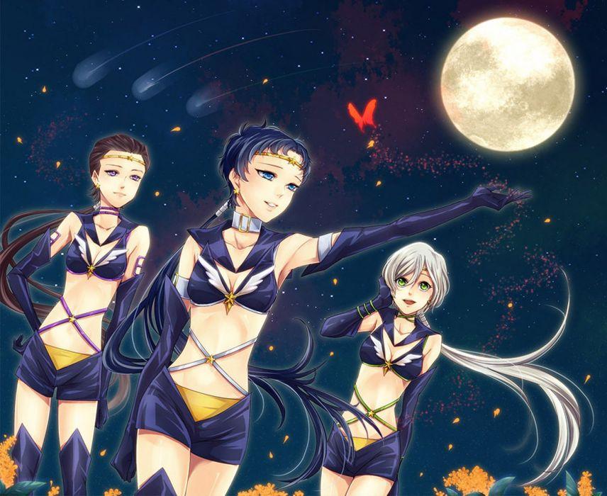 star light seiya moon butterfly flower sailor moon wallpaper