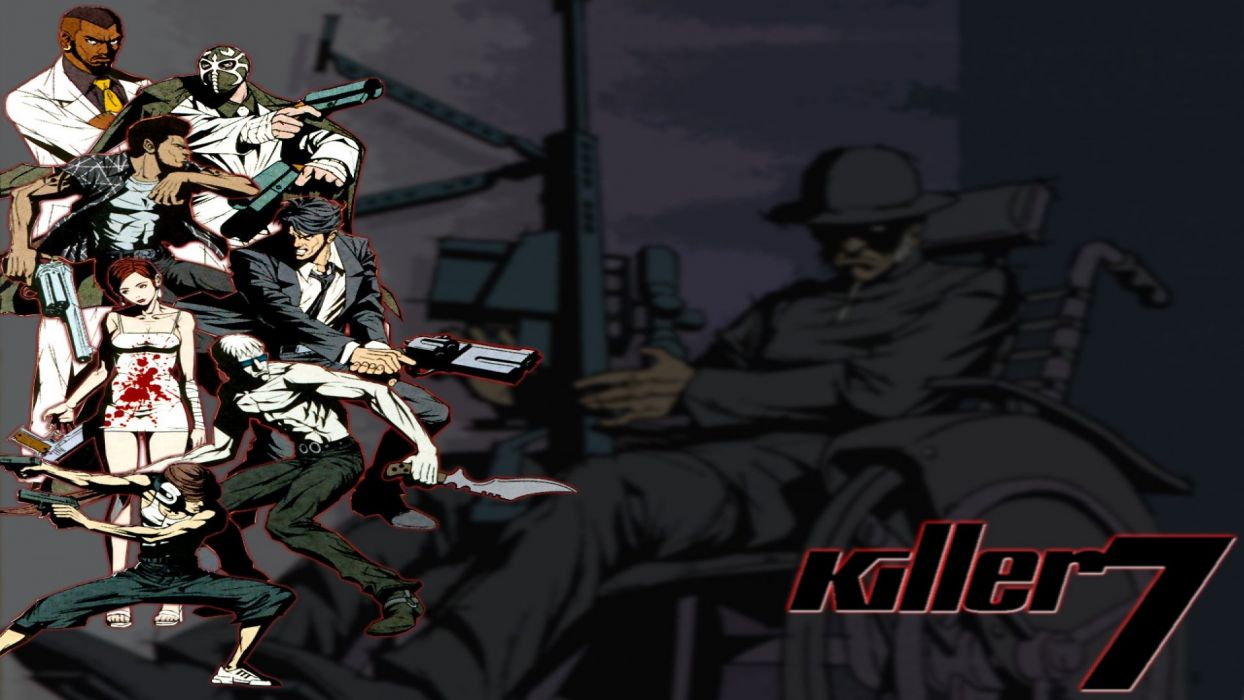 KILLER7 action adventure shooter wallpaper