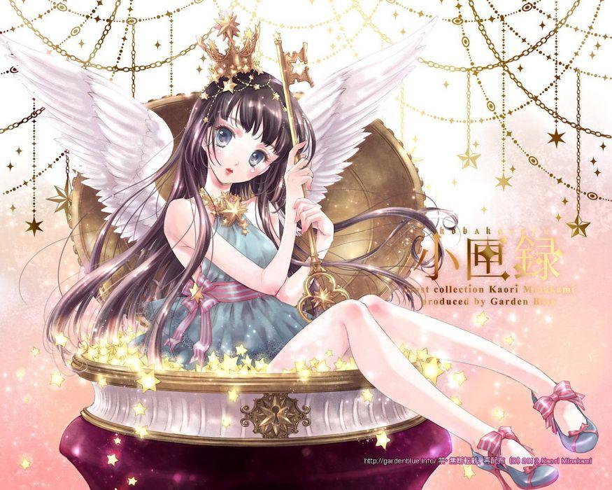 lolita doll angel fairy Crown magic key star anime girl wallpaper