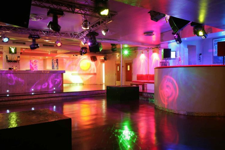 disco dance music club design room wallpaper