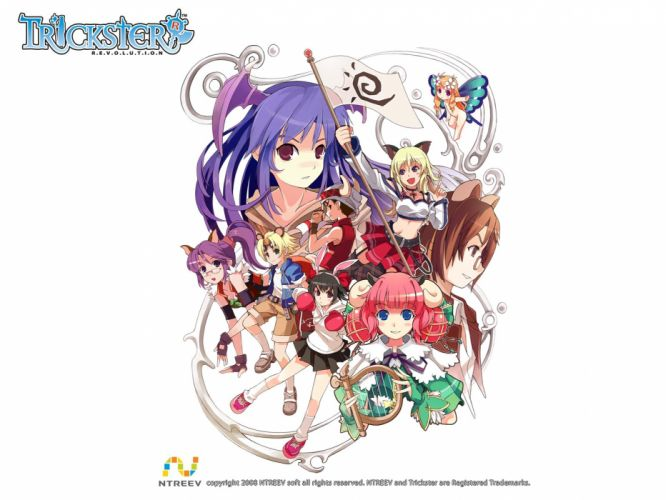TRICKSTER ONLINE mmo rpg fantasy anime wallpaper