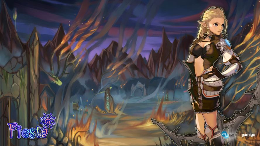 FIESTA ONLINE mmo rpg fantasy anime wallpaper
