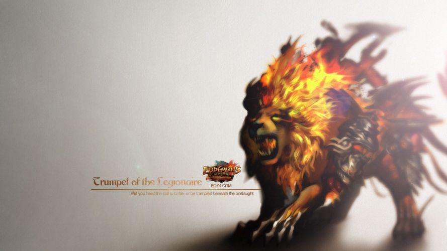 EUDEMONS ONLINE mmo rpg fantasy lion wallpaper