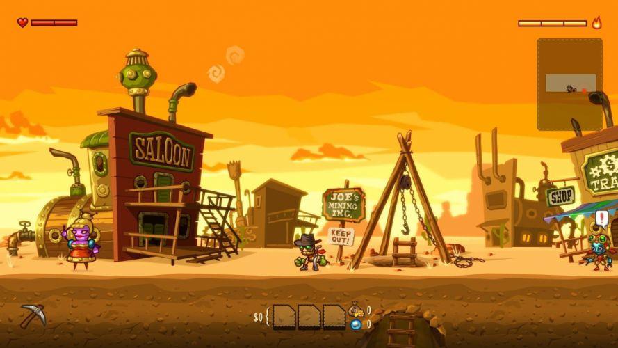 STEAMWORLD platform mining adventure action western sci-fi robot wallpaper