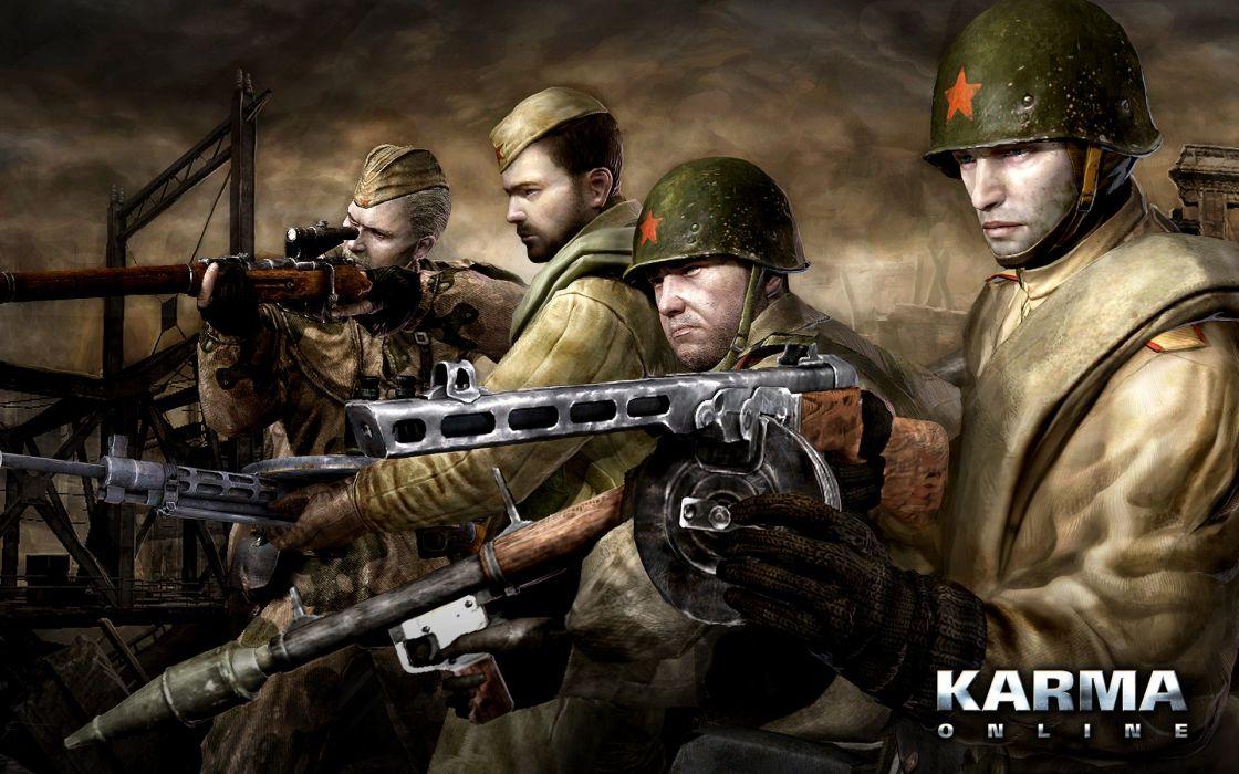 KARMA ONLINE mmo rpg 3-d military shooter wallpaper