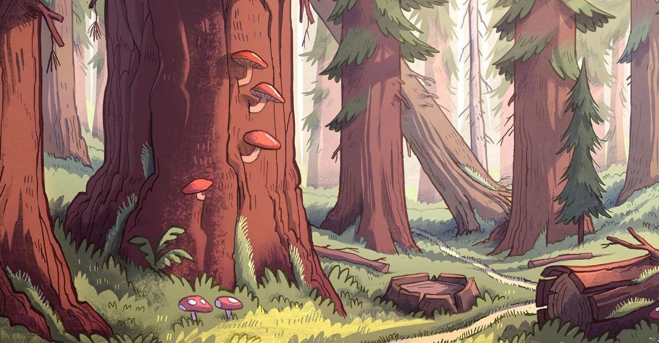 GRAVITY FALLS disney family animated cartoon series comedy wallpaper