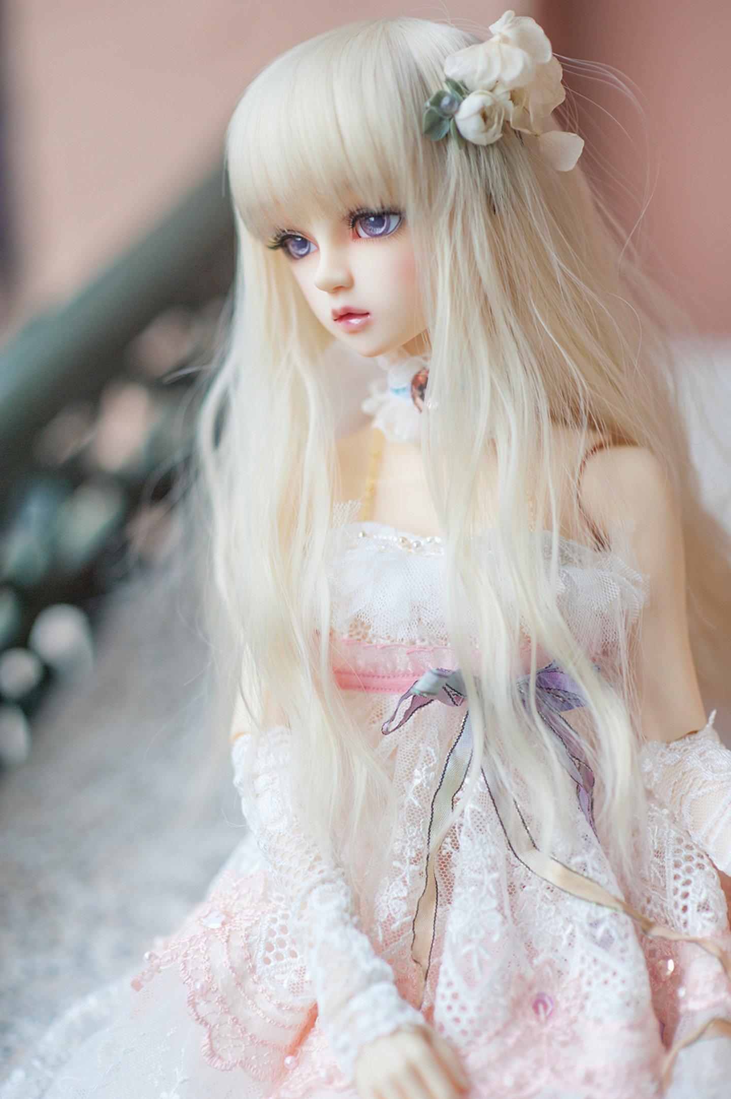 Blond doll toys pretty long hair cute wallpaper ...