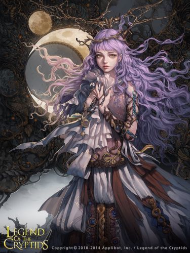 game beautiful girl moon legend of the cryptids wallpaper