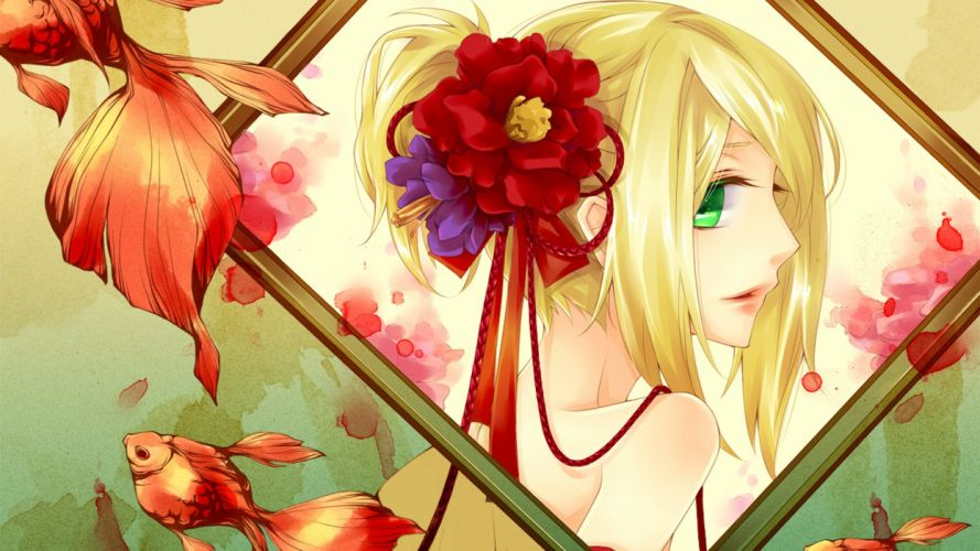 anime girl beautiful lovely girls happy beauty wallpaper