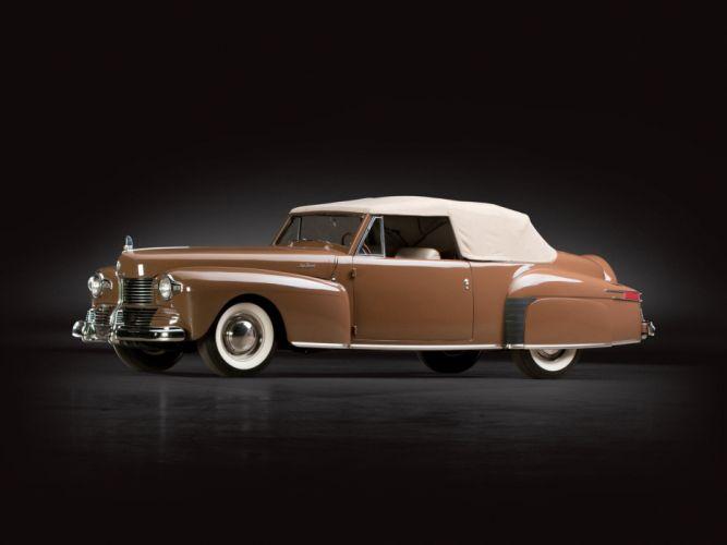 1942 Lincoln Continental 2-door Cabriolet retro luxury wallpaper