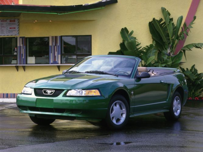 1999-04 Ford Mustang G-T Convertible muscle wallpaper