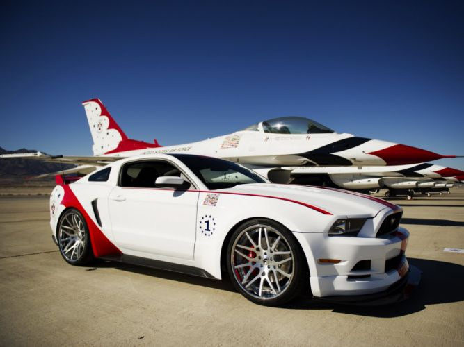 2014 Ford Mustang G-T USA Air Force Thunderbirds muscle tuning hot rod rods military jet g wallpaper